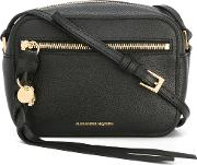 Skull Camera Shoulder Bag Women Leather One Size, Black