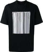 Barcode Print T Shirt Men Cotton 46, Black