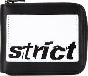 Strict Print Wallet Men Calf Leather One Size, Black