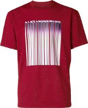 Welded Barcode Mesh T Shirt