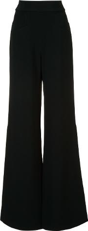 Slit High Waisted Trousers Women Acetateviscose S, Women's, Black