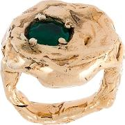 'terra' Ring With Emerald