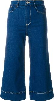 Alice Olivia Cropped Flared Jeans