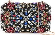 Alice Olivia Crystal Embellished Clutch Women Polyester One Size, Women's