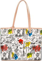 Alice Olivia Doodle Print Tote Women Leather One Size