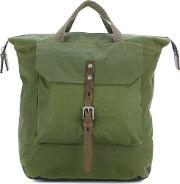 Frances Backpack Men Wax One Size, Green