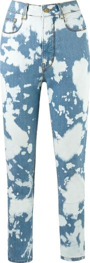High Waisted Skinny Jeans Women Cottonelastodiene 40, Blue