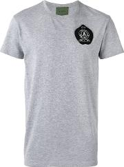 Logo Patch T Shirt Men Cottonpolyestermetal Other glass 52, Grey