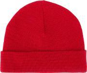 Ami Red Beanie Supporting Sidaction Men Wool One Size