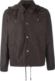 Hooded Jacket Men Polyamide M, Brown