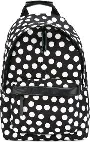 Polka Dot Backpack Men Leatherpolyester One Size, White