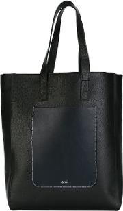 Tote Bag Men Leather One Size, Black