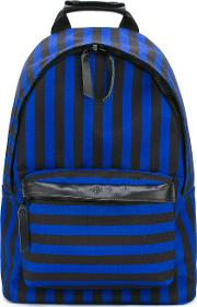 Zipped Backpack Men Leatherpolyester One Size, Blue