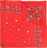 Amiri Patterned Scarf Men Silk One Size, Red