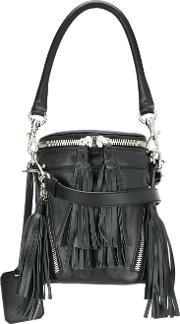 Small Fringed Crossbody Bag Women Leather One Size