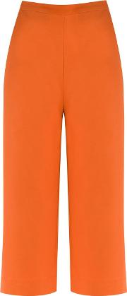 High Waisted Culottes Women Cotton 38, Women's, Yelloworange