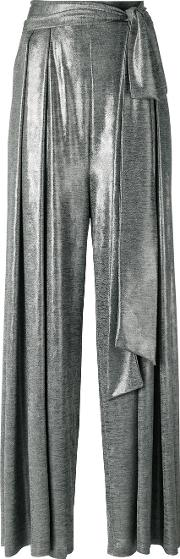 Palazzo Pants Women Viscose 42, Grey