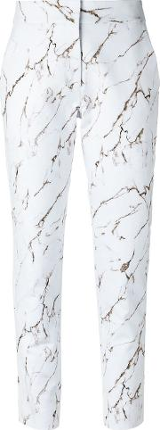 Skinny Trousers Women Cotton 38, White