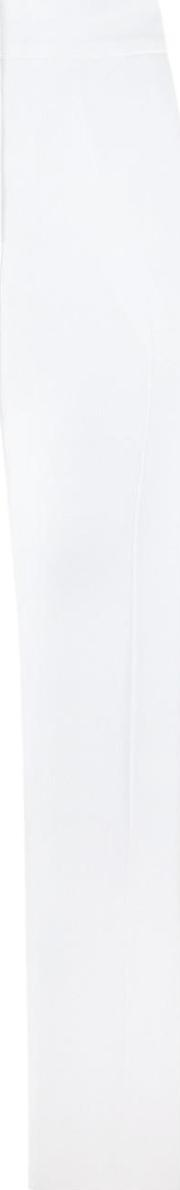 Wide Leg Trousers Women Acetate 38, Women's, White