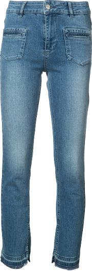 Split Hem Jeans Women Cottonelastodiene 25