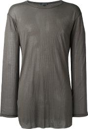 Ann Demeulemeester Blanche Long Sleeve T Shirt Men Lyocell S, Brown