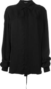 Oversized Shirt Women Cupro 40, Women's, Black