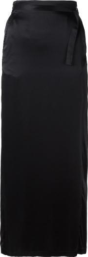 Straight Skirt Women Silkcottonrayon 38, Women's, Black