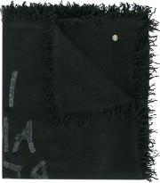 I Am Red With Love Scarf Men Wool One Size, Black
