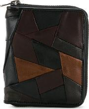 Porter Patchwork Wallet Men Calf Leatherhorse Leathersheep Skinshearling One Size