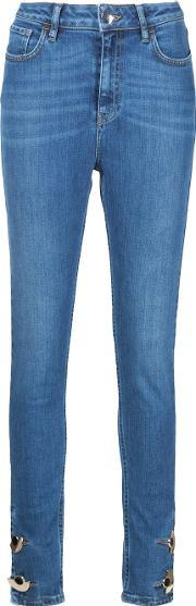 Skinny Button Ankle Jeans Women Cottonspandexelastane 28