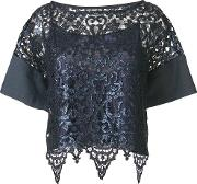 Lace Cropped Blouse