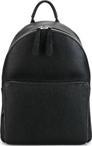 Smiley Backpack Men Calf Leather One Size, Black