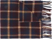 A.p.c. Checked Fringed Scarf Men Virgin Wool One Size, Brown