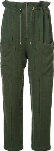 Zip Front Drawstring Trousers