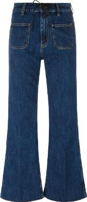 Flared Jeans Women Cotton 29