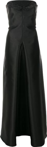 Armani Collezioni Embellished Gown Women Polyesterglass 42, Black