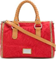 Woven Handle Bowling Tote