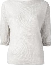 Cropped Sleeves Sweater Women Polyesterviscose 48, Nudeneutrals