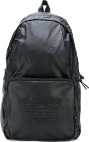 Embossed Backpack Men Polyamidepolyesterpolyurethane