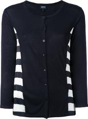 Striped Cardigan Women Polyesterviscose 38, Blue