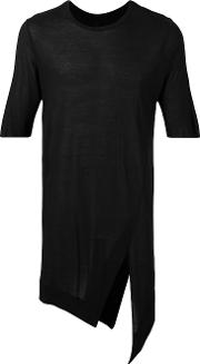 Asymmetric T Shirt Men Modal Xl, Black