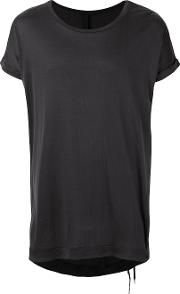 Plain Long T Shirt Men Silk S, Black