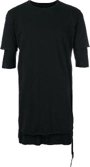 Ribbed Hem Fitted T Shirt
