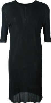 Shortsleeved Long T Shirt Men Modal M, Black