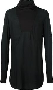 Turtleneck Longsleeved T Shirt Men Viscose M, Black
