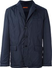 Aspesi Notched Lapel Lightweight Jacket Men Nylonpolyamidepolyesterwool M, Blue