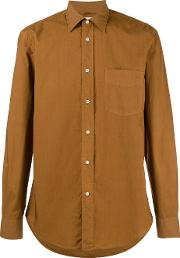 Button Up Shirt Men Cotton 41, Brown