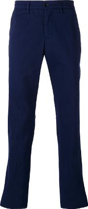 Chino Slim Fit Trousers Men Cotton 50, Blue