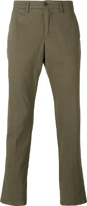 Chino Slim Fit Trousers Men Cotton 58, Green
