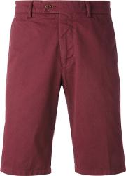 Classic Fitted Shorts Men Cotton 52, Red